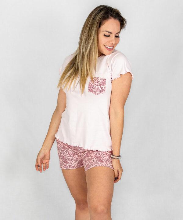 Pijama Conjunto Rosa con Estampado