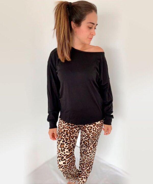 Pijama Conjunto AP polo negro