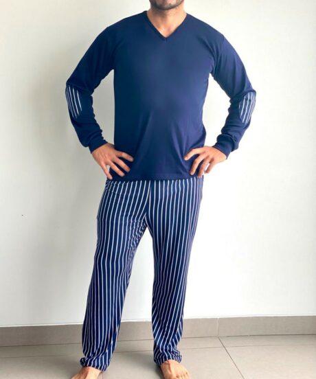Pijama conjunto rayas