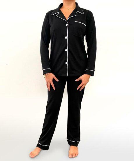 Pijama conjunto negro